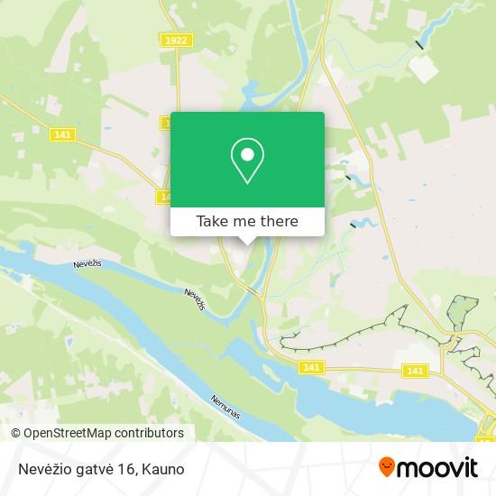 Nevėžio gatvė 16 map