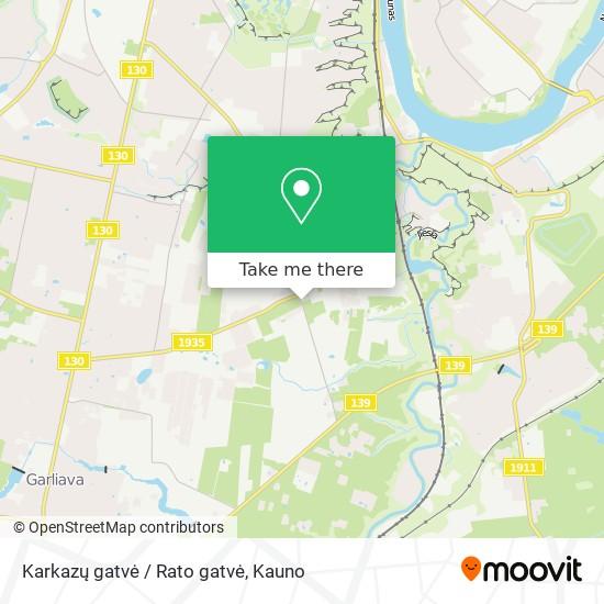Karkazų gatvė / Rato gatvė map