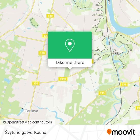 Švyturio gatvė map