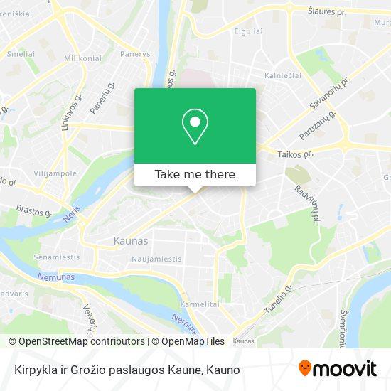 Kirpykla ir Grožio paslaugos Kaune map