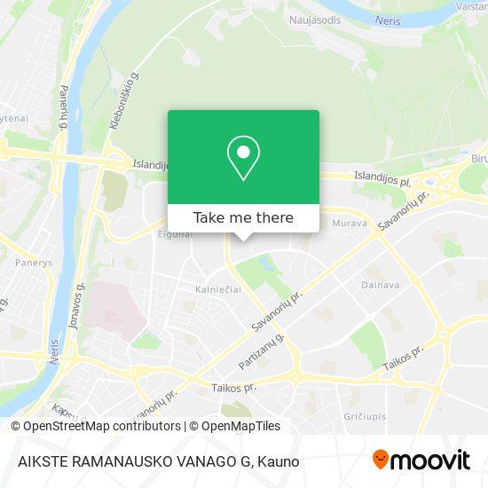 AIKSTE RAMANAUSKO VANAGO G map