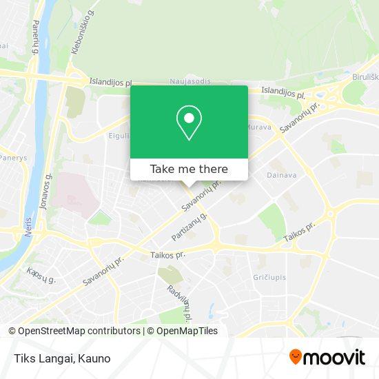 Tiks Langai map