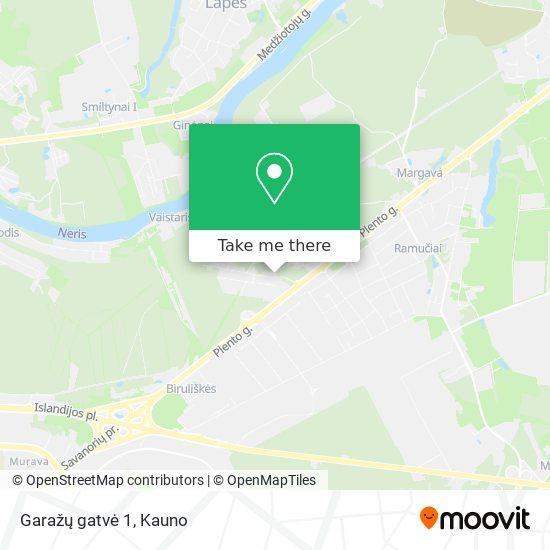 Garažų gatvė 1 map