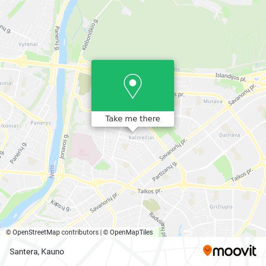 Santera map