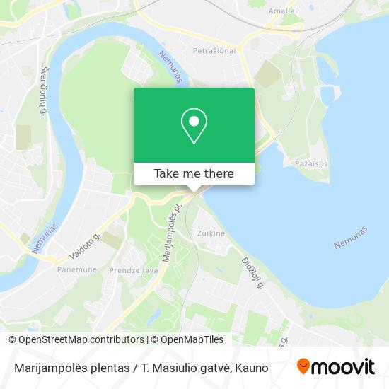 Marijampolės plentas / T. Masiulio gatvė map