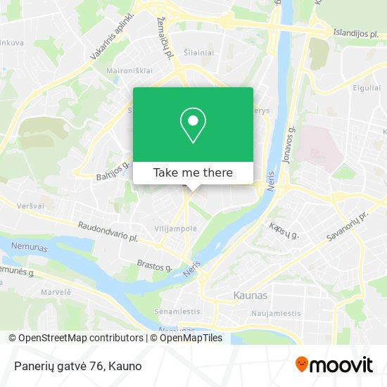 Panerių gatvė 76 map
