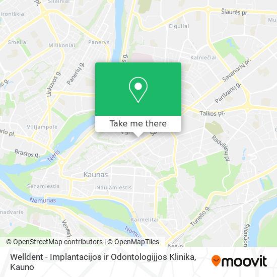 Welldent - Implantacijos ir Odontologijjos Klinika map