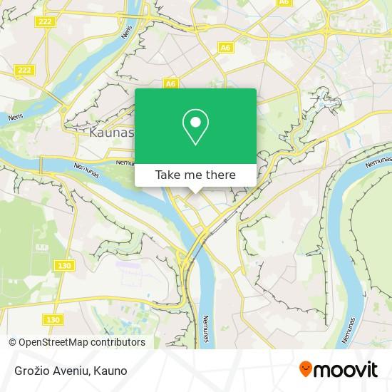 Grožio Aveniu map