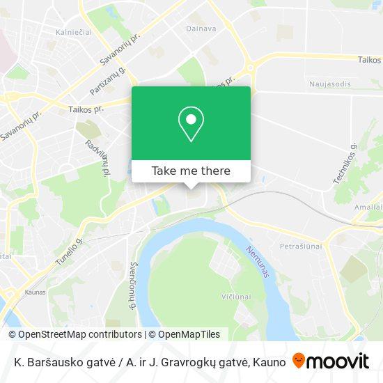 K. Baršausko gatvė / A. ir J. Gravrogkų gatvė map