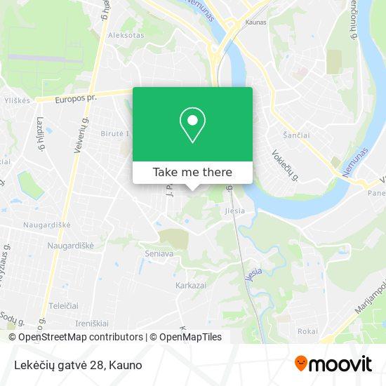 Lekėčių gatvė 28 map