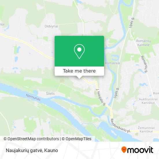 Naujakurių gatvė map