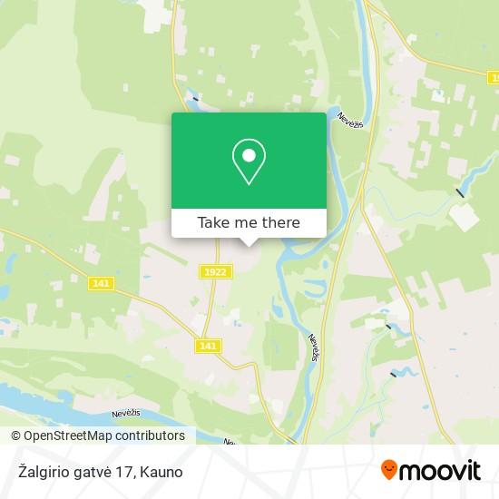 Žalgirio gatvė 17 map