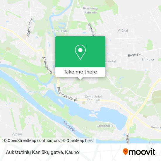 Aukštutinių Kaniūkų gatvė map