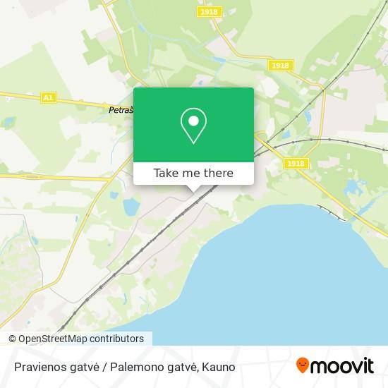 Pravienos gatvė / Palemono gatvė map