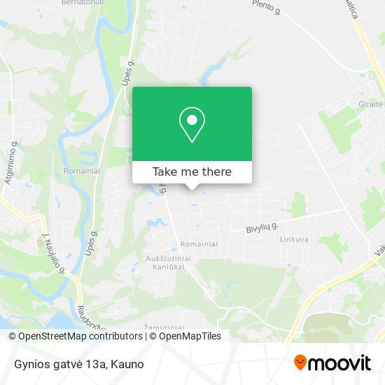 Gynios gatvė 13a map