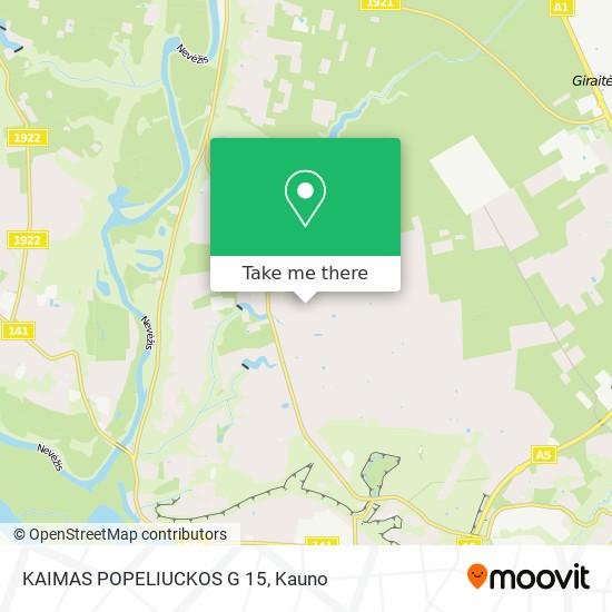 KAIMAS POPELIUCKOS G 15 map