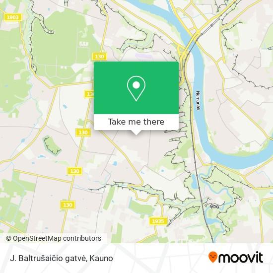 J. Baltrušaičio gatvė map