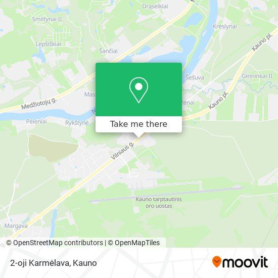 Карта 2-oji Karmėlava