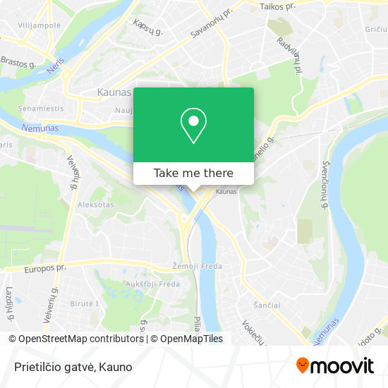 Prietilčio gatvė map