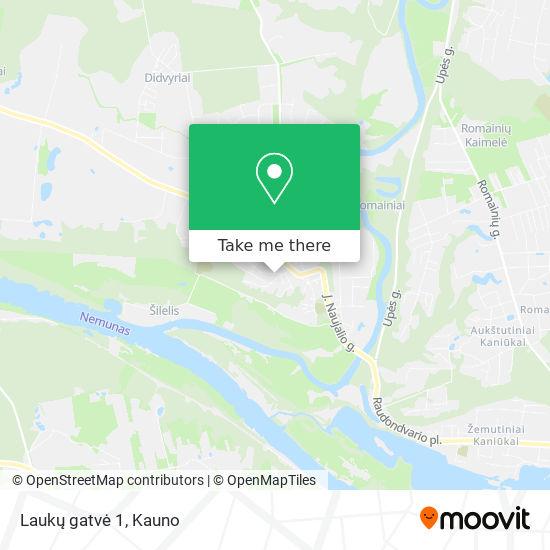 Laukų gatvė 1 map
