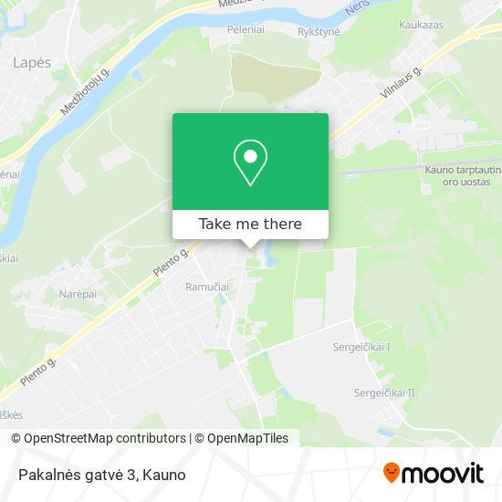 Pakalnės gatvė 3 map