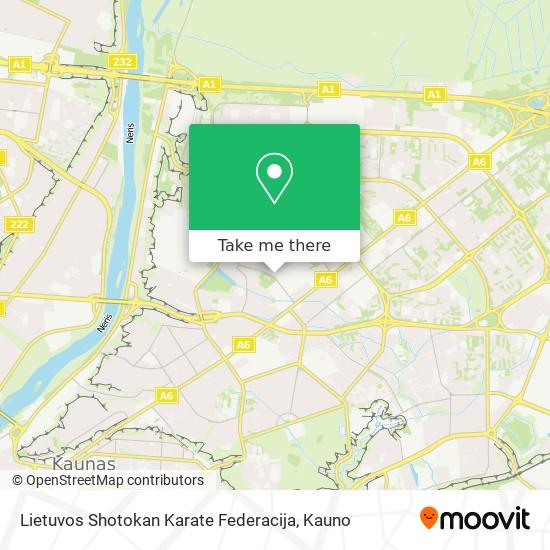 Lietuvos Shotokan Karate Federacija map