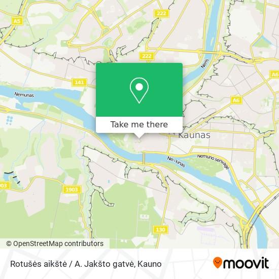 Rotušės aikštė / A. Jakšto gatvė map