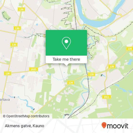 Akmens gatvė map