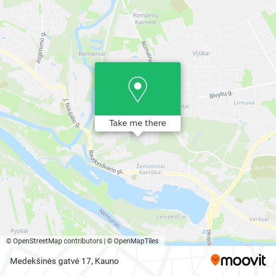 Medekšinės gatvė 17 map