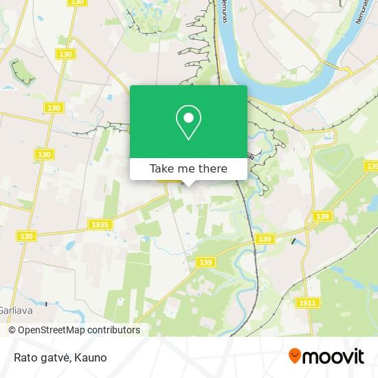 Rato gatvė map