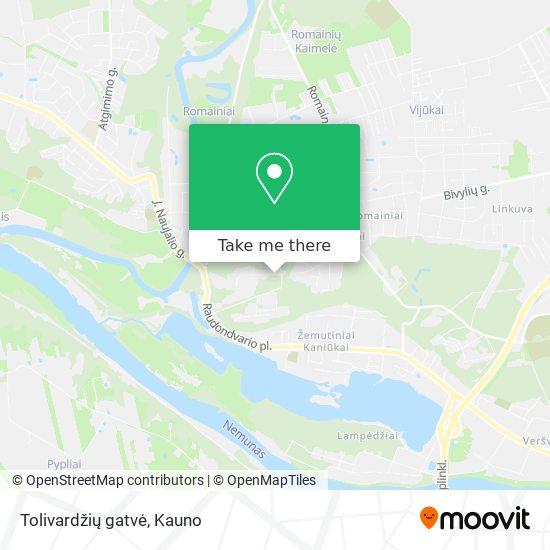 Tolivardžių gatvė map