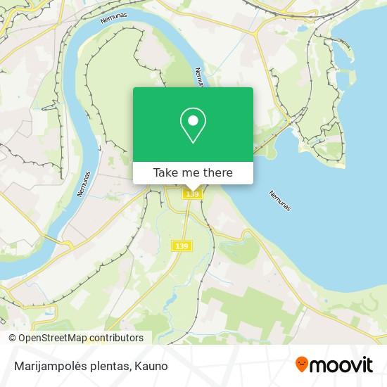Marijampolės plentas map