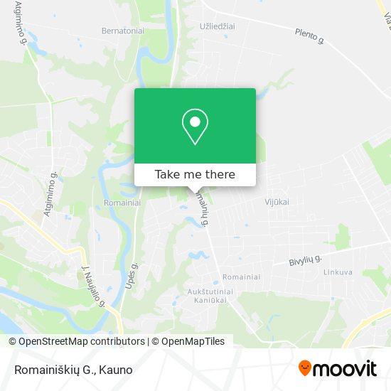 Romainiškių G. map