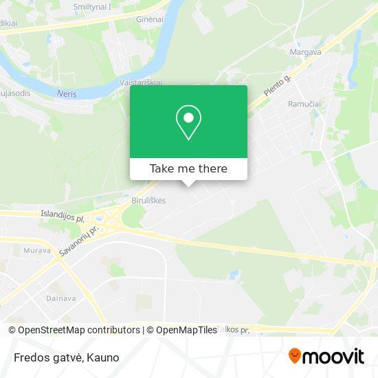 Fredos gatvė map