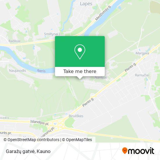 Garažų gatvė map