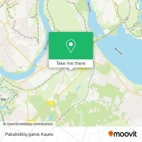 Pakalniškių gatvė map