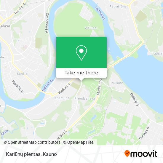 Kariūnų plentas map