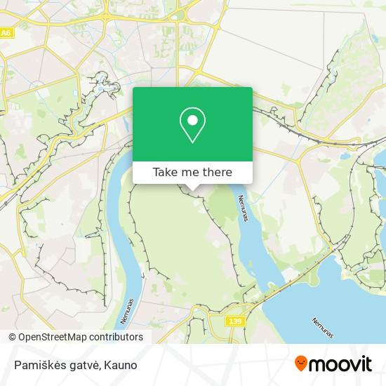 Pamiškės gatvė map