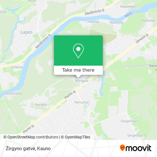 Žirgyno gatvė map