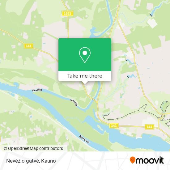 Nevėžio gatvė map