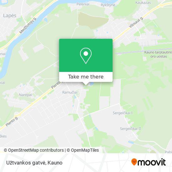 Užtvankos gatvė map