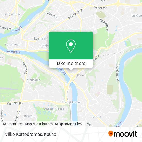 Vilko Kartodromas map