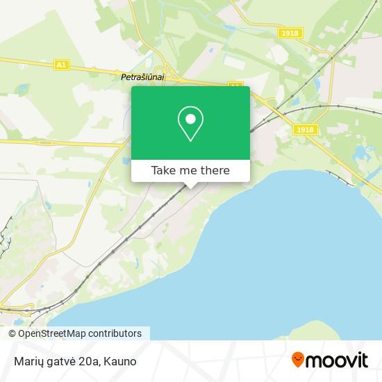 Marių gatvė 20a map