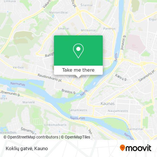 Koklių gatvė map