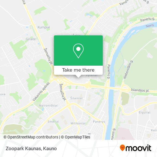 Zoopark Kaunas map