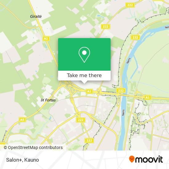 Salon+ map