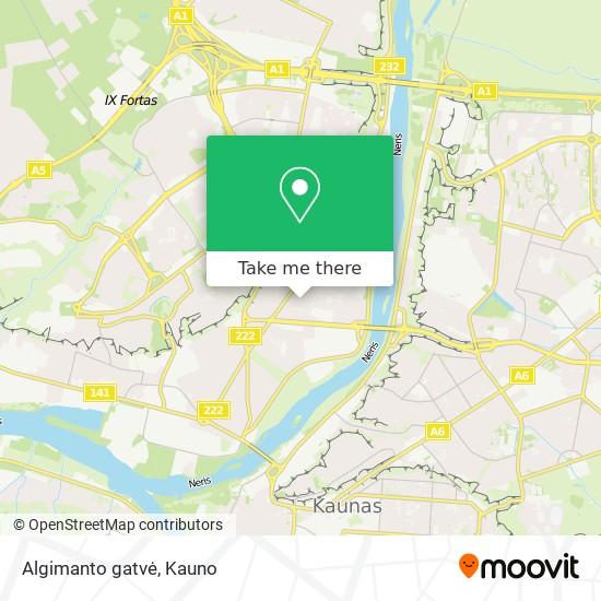 Algimanto gatvė map