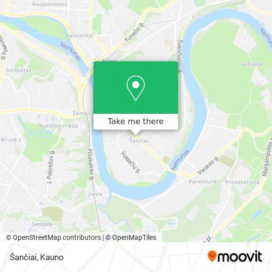 Šančiai map