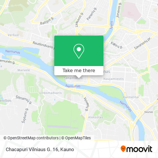 Chacapuri Vilniaus G. 16 map