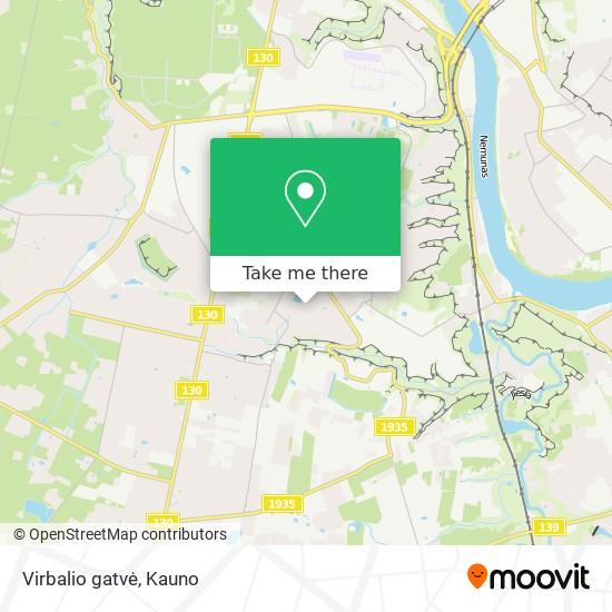 Virbalio gatvė map